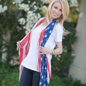 American Flag Scarf - $10.99! Free shipping! - http://www.pinchingyourpennies.com/american-flag-scarf-10-99-free-shipping/ #Americanflagscarf, #BelleChic, #Pinchingyourpennies