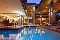 Architecture Designs, Pool Interior Decorating Furniture Wooden Floor Ceiling Furnishing Lamp Ideas Paint Schemes SGNW House Design Contemporary Modern Decor Architect Lighting Ornament Architecture Homes Glidden Colors Home Plans Exterior: Luxurious House Design