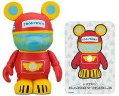 "Toontown Trolley by Randy Noble - Disney Vinylmation ~3"" Park Series #3 Designer Figure (Disney Theme Parks Exclusive)"