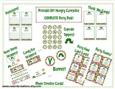 Complete DIY Printable Very Hungry Caterpillar by NeatnikCreations