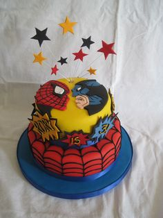 spiderman batman cake - Google Search