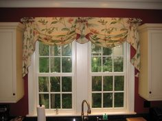 Valance idea for over the kitchen sink