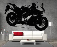 Kawazaki Ninja Moto GP Racing Motor Bike Large Vinyl Sticker Wall Art