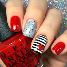 Pin for Later: 14 Valentine's Day Nail DIYs You'll Totally Heart