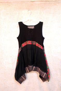 REVIVAL Upcycled Boho chemise femme pays Shabby Chic par REVIVAL