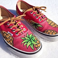"Oldie but a goodie: Custom Vans from @kelshmeamy ""Pineapple Express"" ✌️"