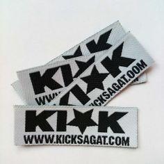 KI★K - kicksagat.com Etiquette tissée, thermocollante