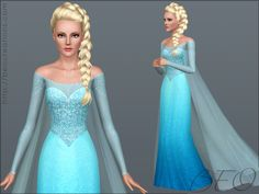 Frozen  dress and tail by BEO *Pay - Sims 3 Downloads CC Caboodle