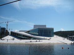 The Norwegian National Opera & Ballet. - Free to walk through. Great architecture