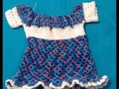 Vestido para bebé tejido crochet. Muy fácil! 2.4