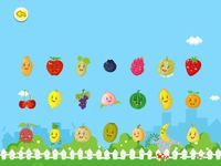 Baby learns fruits HD (iPad only)  Sweet, delicious and nutritious fruits have been being greatly welcomed by the babies, but do the babies know what these fruits look like, what their names are, and where they grow?  Baby Learns Fruits anthropomorphizes the most common fruits, the four scenes which tie in with the progressive way of cognition, and the interactive game let the baby know each kind of the fruits and their different growth patterns..