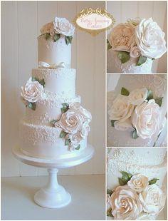 Elegant and Beautiful, Award-Winning, Bespoke Wedding Cakes Wedding Cake Fresh Flowers, Floral Wedding Cakes, Elegant Wedding Cakes, Wedding Cake Designs, Luxury Cake, Luxury Wedding Cake, Beautiful Cakes, Amazing Cakes, Types Of Cakes