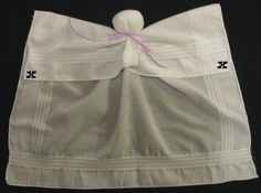 handkerchief angel craft - this is just the beginning pic of directions, not the end result