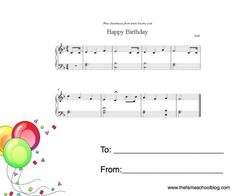 Great birthday gift for piano students, but you could customize it for band kids too.