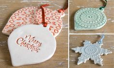 Ceramic christmas ornaments totally doing this in my ceramics class!