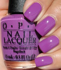 Nail Color OPI — I Manicure for Beads (New Orleans Collection Cute Nails, Pretty Nails, Manicure Y Pedicure, Colorful Nail Designs, Opi Nails, Purple Nails, Perfect Nails, Nail Polish Colors, Nails Inspiration