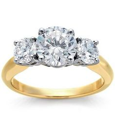 three stone engagement rings | Three-Stone Engagement Rings Inspired by Christina Ricci's! Which Is ...