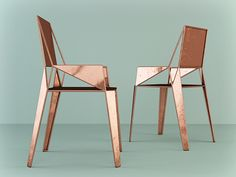 "Dmitry Kozinenko- ""F3"" copper chair on Behance °°"