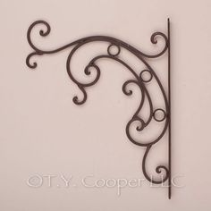 Wrought Iron Metal Plant Basket Hanger Hooks 92069