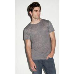 Canvas Burnout Crew Neck T-Shirt / #Mens #Short Sleeve #T-Shirt