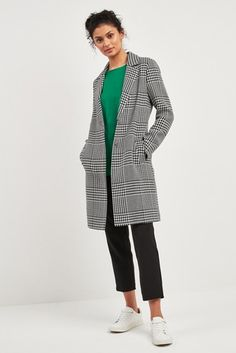 d05bb820 Buy F&F Multi Black/White Check Mono Formal Coat from the Next UK online  shop