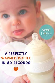 So easy, you can warm a bottle (breastmilk or formula) practically in your sleep (or for quick, hassle-free feeding while on the go!).