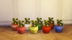 Custom Contents for The Sims 4 — Cactus Garden I made these quite a while ago, but...