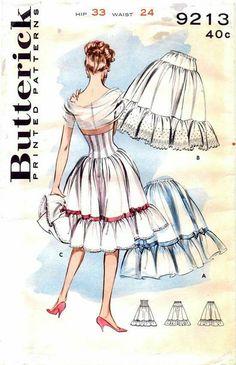Petticoat pattern Butterick 9213