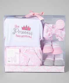 This Baby Essentials Pink 'The Princess Has Arrived' Five-Piece Layette Set - Infant by Baby Essentials is perfect! #zulilyfinds