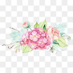 الصغيرة الطازجة طلاء ألوان مائية الزهور ديكور
