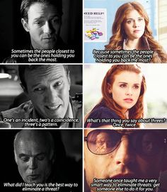 Do you great minds just think alike??? Or did the writers forget their own words...