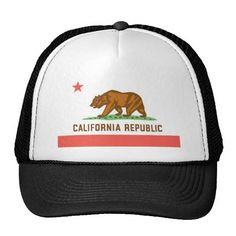California Trucker Hat http://www.zazzle.com/california_trucker_hat-148278981415549395?rf=238675983783752015