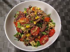 Southwestern Quinoa with black beans, roasted corn, tomatoes, caramelized onions…too many good things to list them all! I'm a big fan of quinoa as both a coldsalad and as a warm side dish. By now we're all probably aware of all the good things about quinoa – high fiber, high protein, etc. but to me, …
