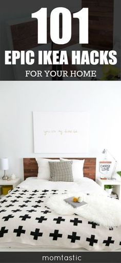 Gorgeous home decor doesnt have to be expensive! Here are 101 epic ikea hacks every homeowner should see. Youre welcome!