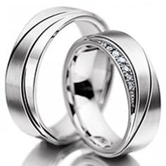 14K White Gold Diamond Wedding BandsHis & Hers by ZeebahJewelry