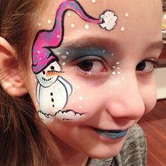 ❄️⛄️❄️ #snowman #cutesnowman #snowmanfacepaint #facepaint #faceart #facepainter #facepainting #winterfacepaint #snow #calgary #canada #yyc