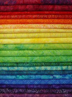 New Rainbow Jelly Batik Strips js20-001