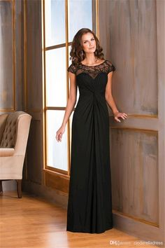 Groom Mother Dress For Wedding 2015 Black Long Cap Sleeves Mother Of The Bride Dresses Sheer Lace Backless Chiffon Fashion Prom Dress Formal Plus Size Evening Gowns Mother Of The Bride Dresses Melbourne From Cinderelladress, $94.5| Dhgate.Com