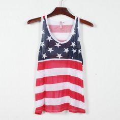 American Flag Print Tank Top ($29.99)