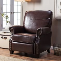 Have to have it. Barcalounger Ridley II Leather Recliner with Nailheads - $449 @hayneedle.com