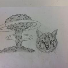 Hier heb ik bij me tekening een explosie erbij gedaan. In het begin wilde ik een aarde maar er waren geen tutorials daarvoor. Ik ben tevreden met hoe de tekening er nu uitziet. Ik had moeite met de ringen rondom de explosie. Voor de rest ging het wel goed.