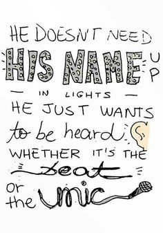 remember the name // fort minor Rap Quotes, Lyric Quotes, Best Quotes, Fort Minor, Troubled Teens, Rap Lyrics, Remember The Name, Good Music, Amazing Music