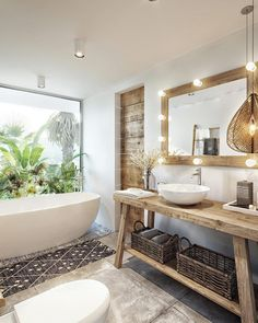 Tropical villa in Thailand based on an ancient system of architecture . - Tropical villa in Thailand based on an old system of architecture – Bathroom – - Tropical Bathroom Decor, Tropical Decor, Tropical Colors, Tropical House Design, Tropical Furniture, Tropical Interior, Interior Plants, Tiny House Design, Tropical Houses