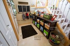 Tons of great ideas for organizing a home with several children! Wanted to pin every picture in this post!