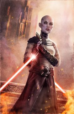 """""""I am fear. I am the queen of a blood-soaked planet and architect of genocide. And I have defeated every enemy I have ever faced--including death.""""--Asajj Ventress"""