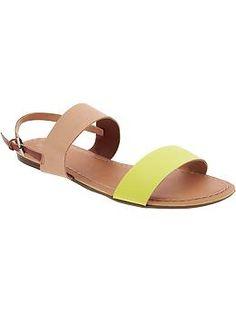 Women's Color-Block Sandals | Old Navy