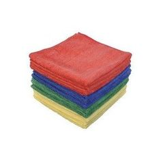 Eurow Microfiber Commercial Towels 16 x 16 in. 300 GSM 12-pack 4 colors --- http://www.amazon.com/Eurow-Microfiber-Commercial-Towels-12-pack/dp/B004XVNDL0/?tag=jayb4903-20