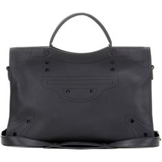 Balenciaga Blackout City Leather Tote (11.545 BRL) ❤ liked on Polyvore featuring bags, handbags, tote bags, black, totes, genuine leather handbags, balenciaga handbags, handbags tote bags, leather tote handbags and balenciaga purse