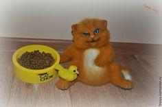 Купить Кот объедалкин - рыжий, кот, котик, кошка, коты, подарок, шёрсть, глазки для игрушек