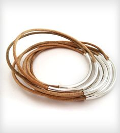 Natural Leather Bangles